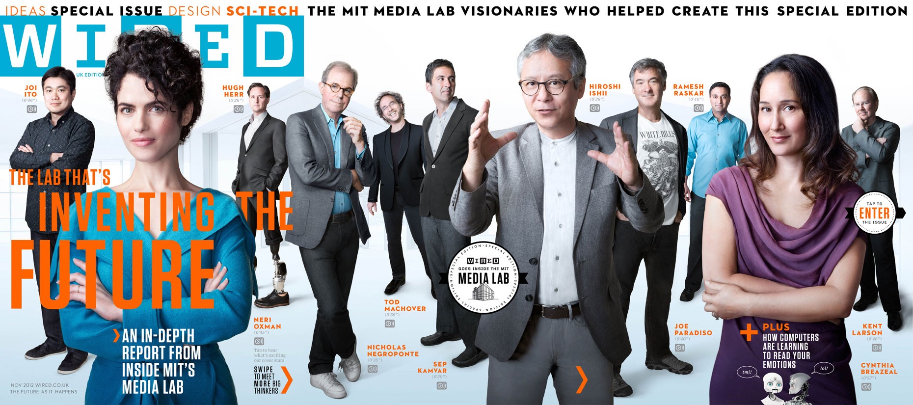 WIRED UK: The MIT MEDIA LAB. November 2012 issue