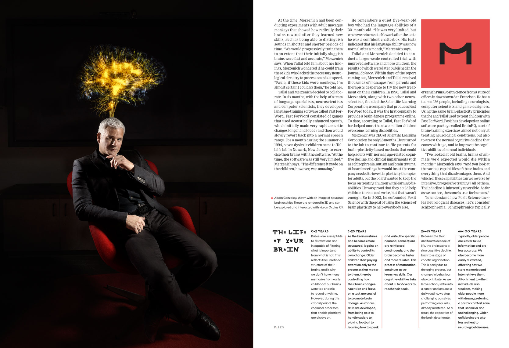 Adam Gazzaley for Wired UK Spread May 2014 issue