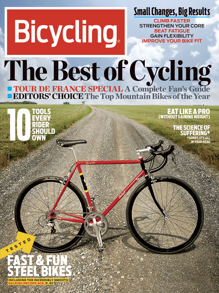 Bicycling  Magazine Cover: The Best of Cycling.  August 2012 issue