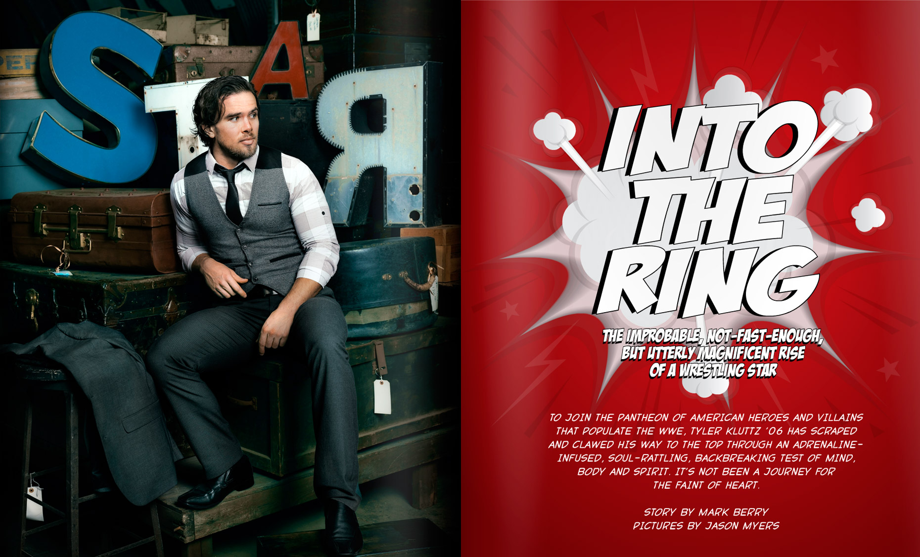 College Of Charleston Magazine - INTO THE RING - SPRING 2014 - Opener: Brad Maddox -  photographer Jason Myers