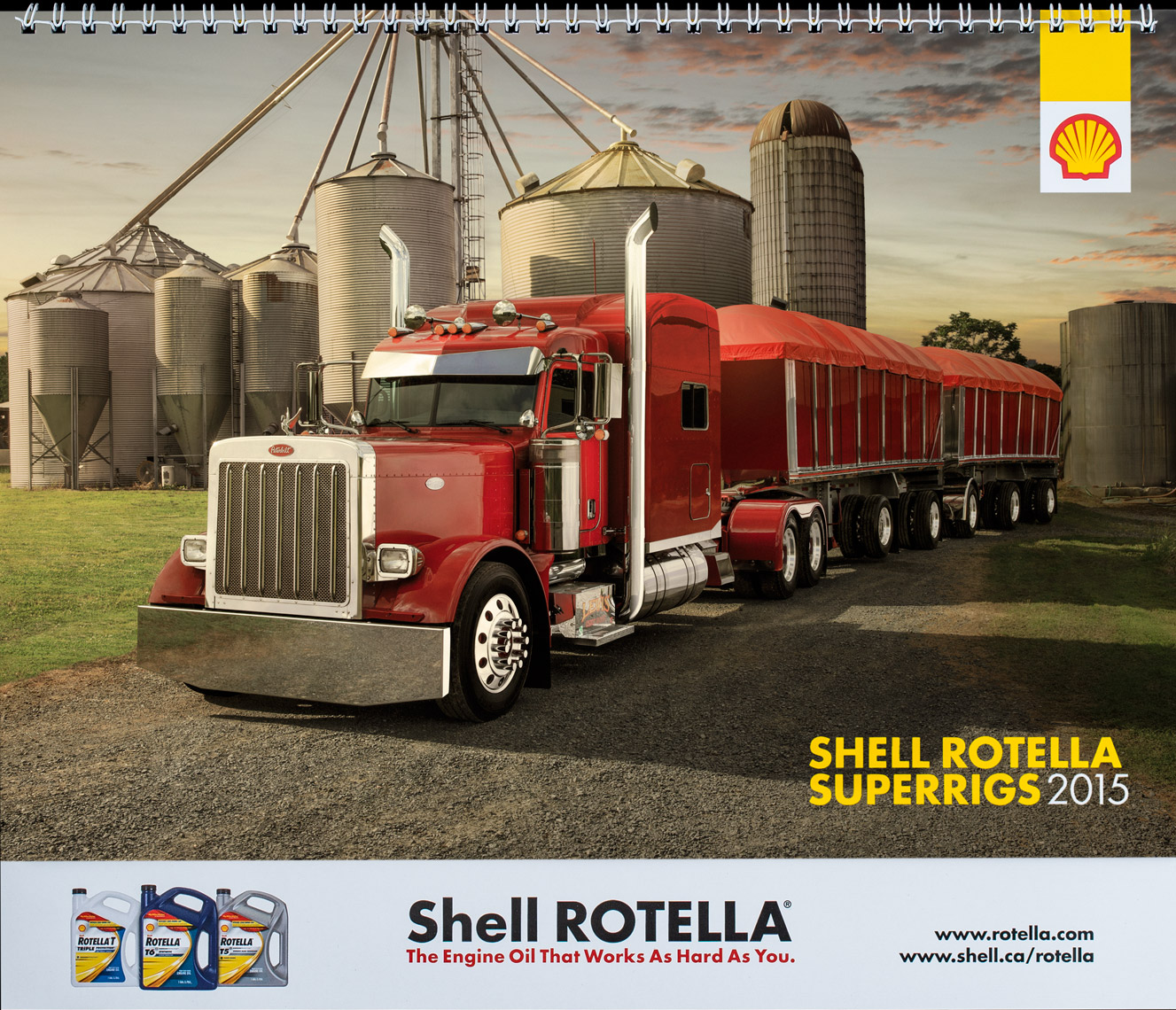 2015 Shell Rotella SuperRigs Calendar - Cover- Photographer Chris Crisman