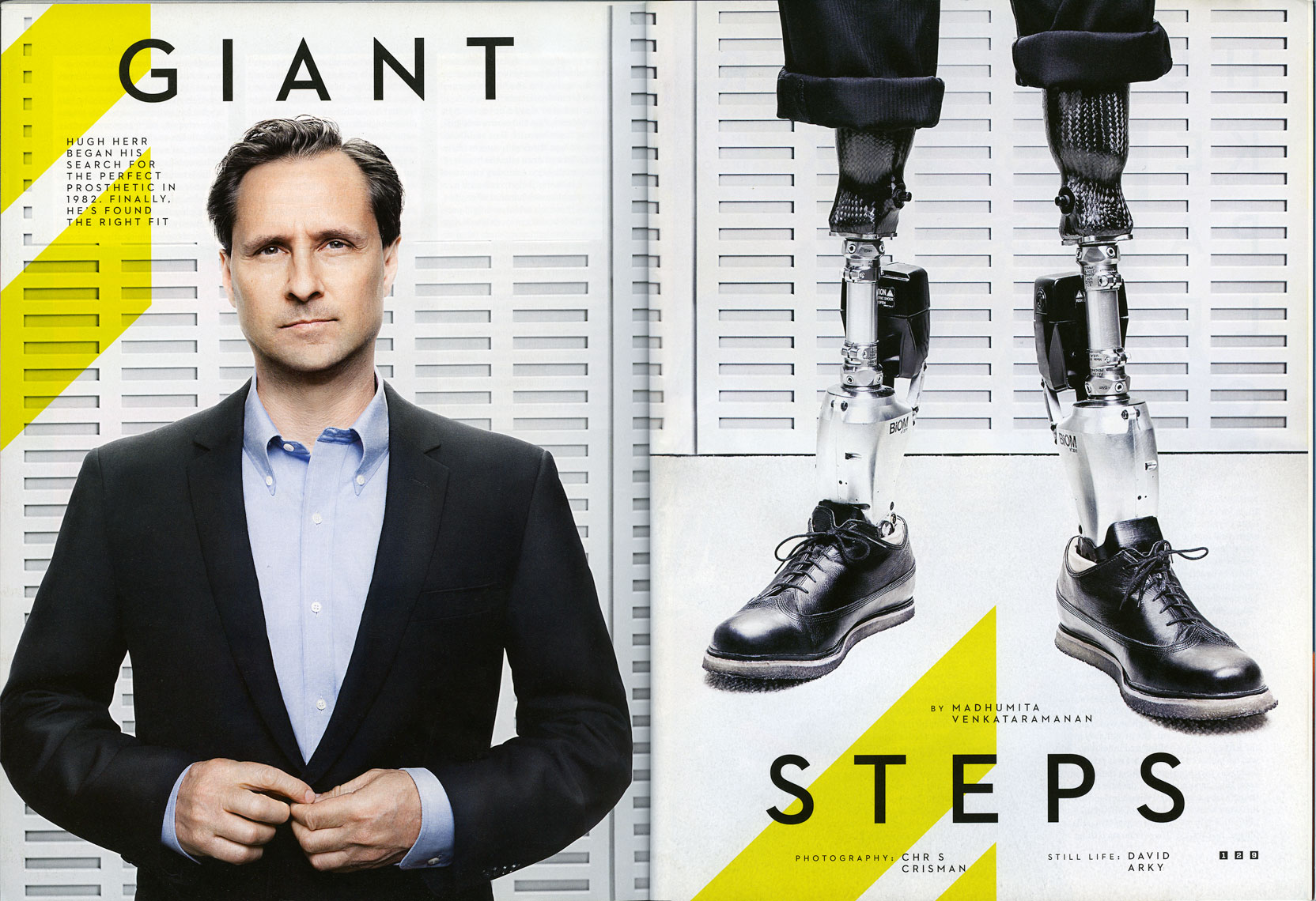 WIRED UK: The MIT MEDIA LAB. November 2012 issue  - SPREAD 7 and 8: Hugh Herr