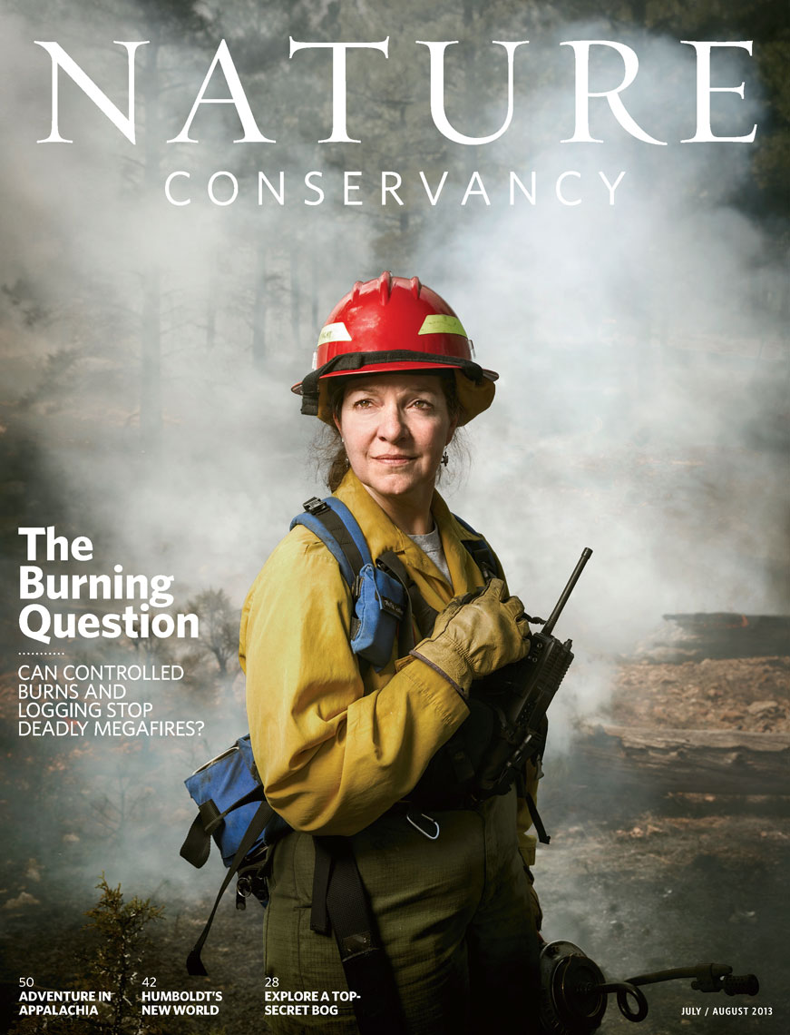 Nature Conservancy: The Burning Question. Cover: MARY LATA