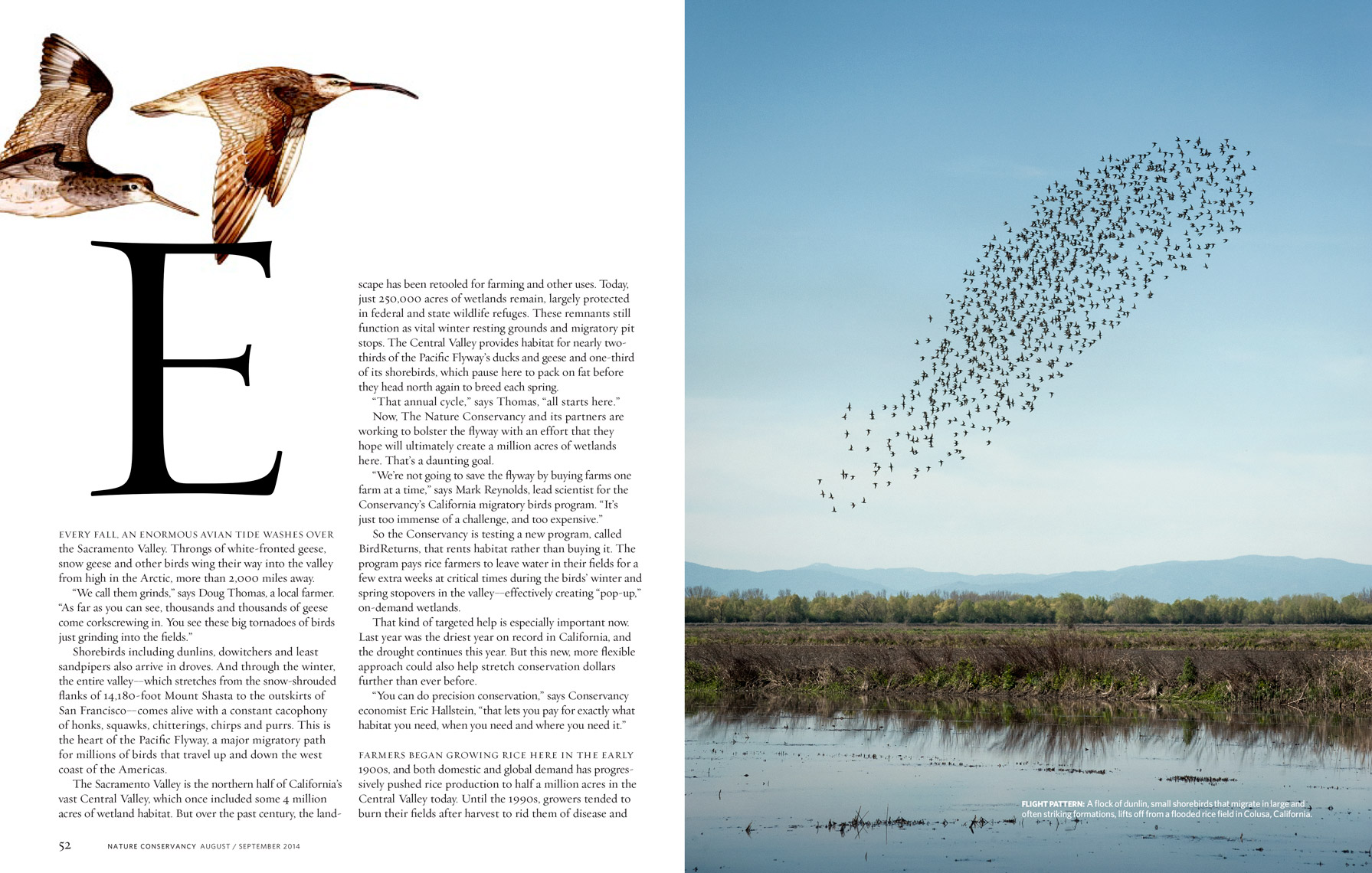 Nature-Consevancy-Magazine---On-The-Wing---August--September-2014---Spread-1