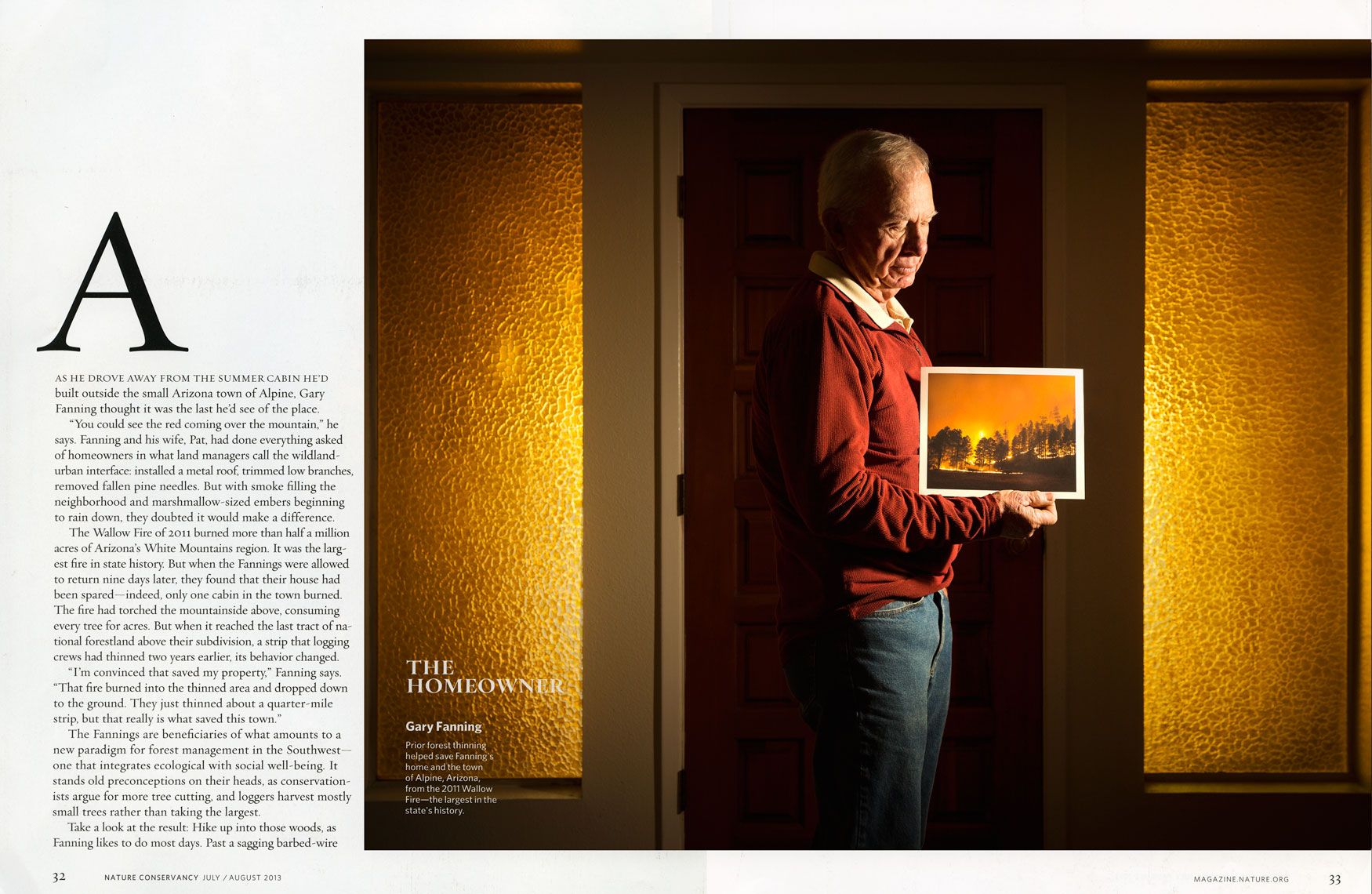 Nature Conservancy: The Homeowner. SPREAD 1: GARY FANNING