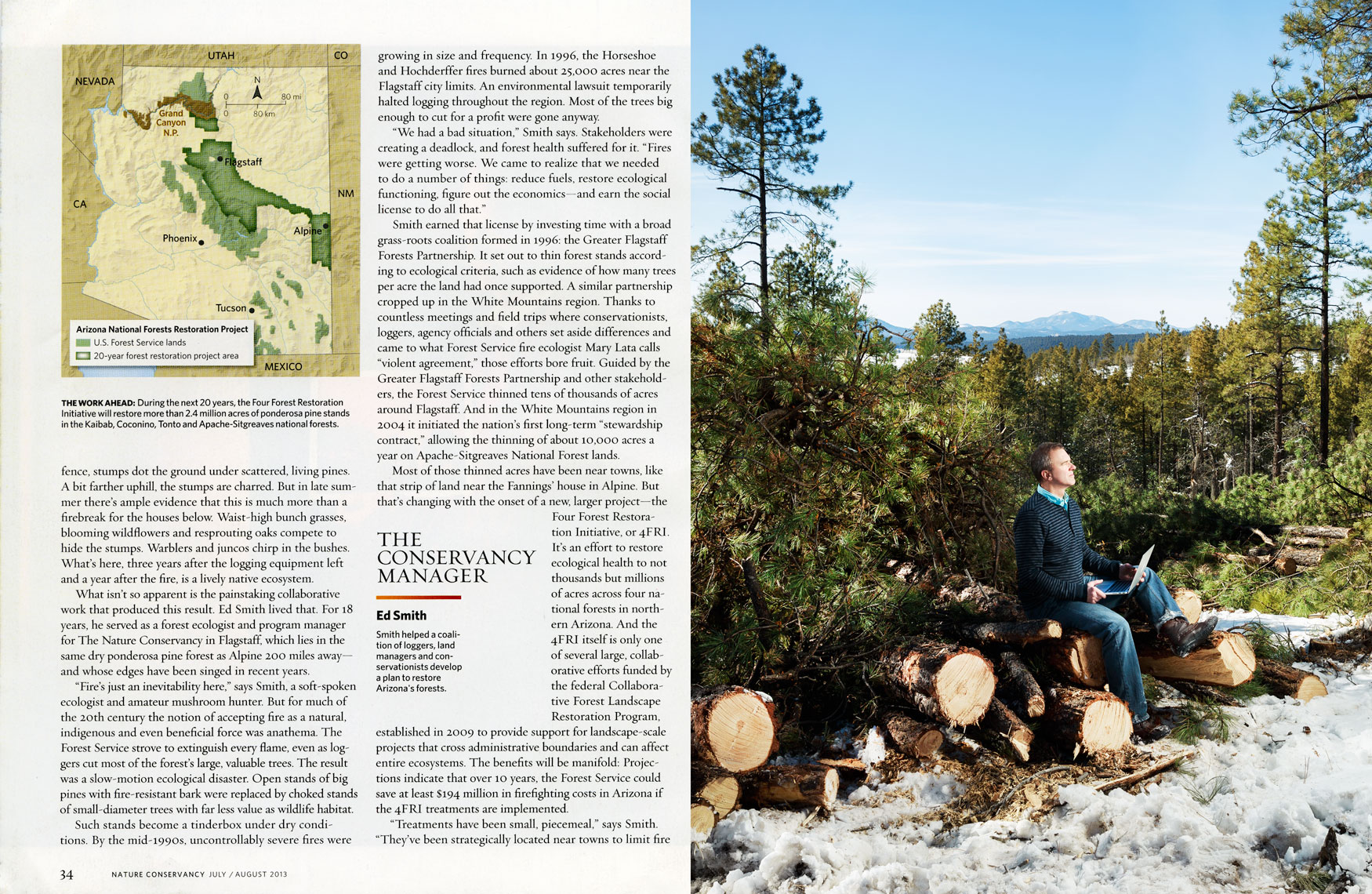 Nature Conservancy: The Conservancy Manager. SPREAD 2: ED SMITH