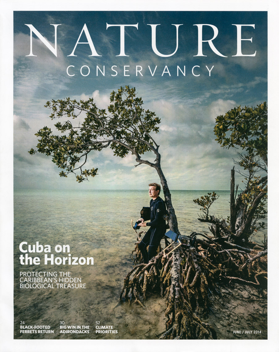 Nature Conservancy Magazine - June - July 2014 - Cover - photographer Chris Crisman