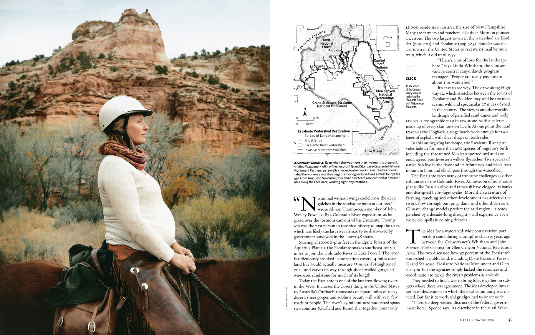 Nature Conservancy Magazine - Cutting A Clear Path Feature - Spread 2 - April/May 2014