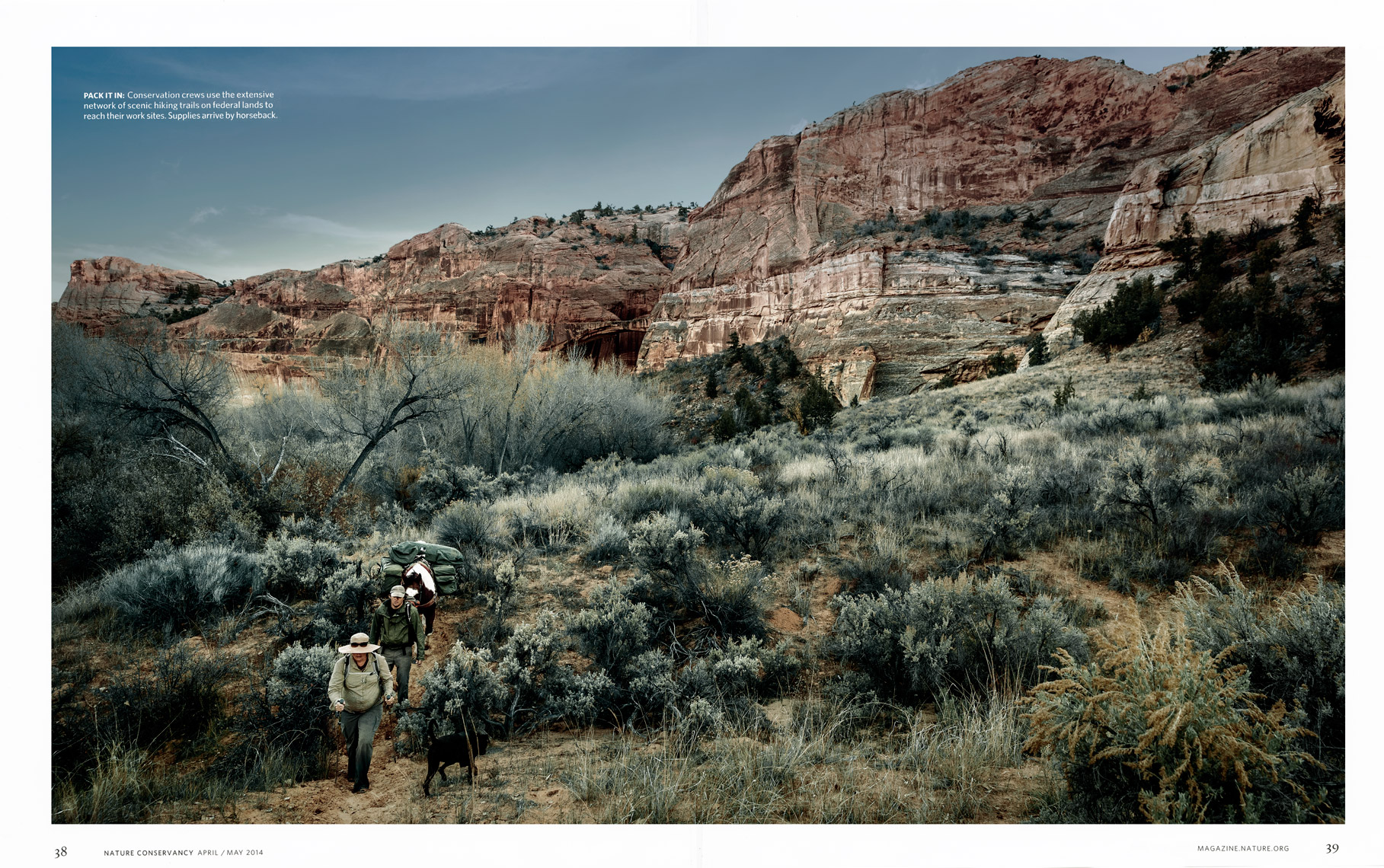Nature Conservancy Magazine - Cutting A Clear Path Feature - Spread 4 - April/May 2014