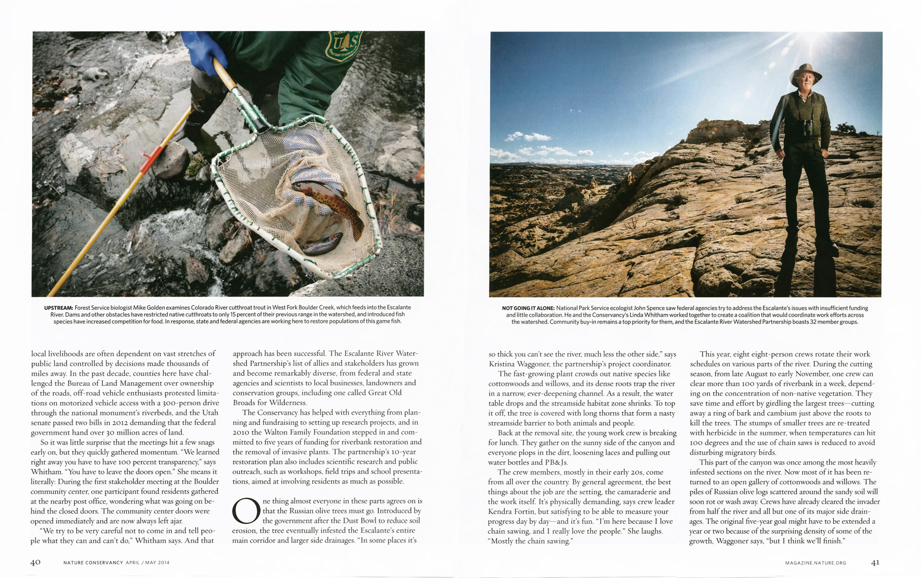 Nature Conservancy Magazine - Cutting A Clear Path Feature - Spread 5 - April/May 2014