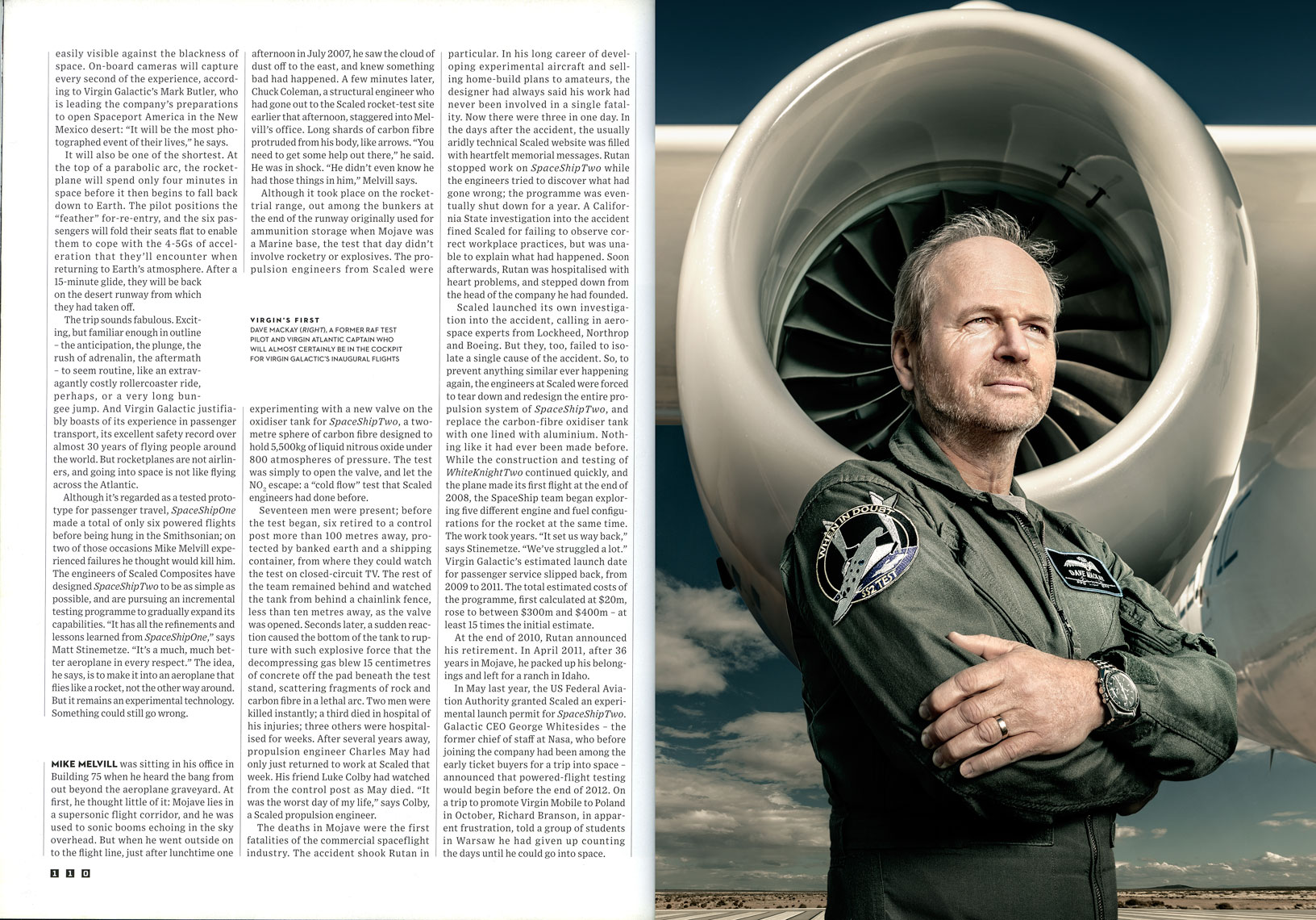 WIRED UK: BRANSON GOES GALACTIC: Dave MacKay. March 2013 issue - SPREAD 10