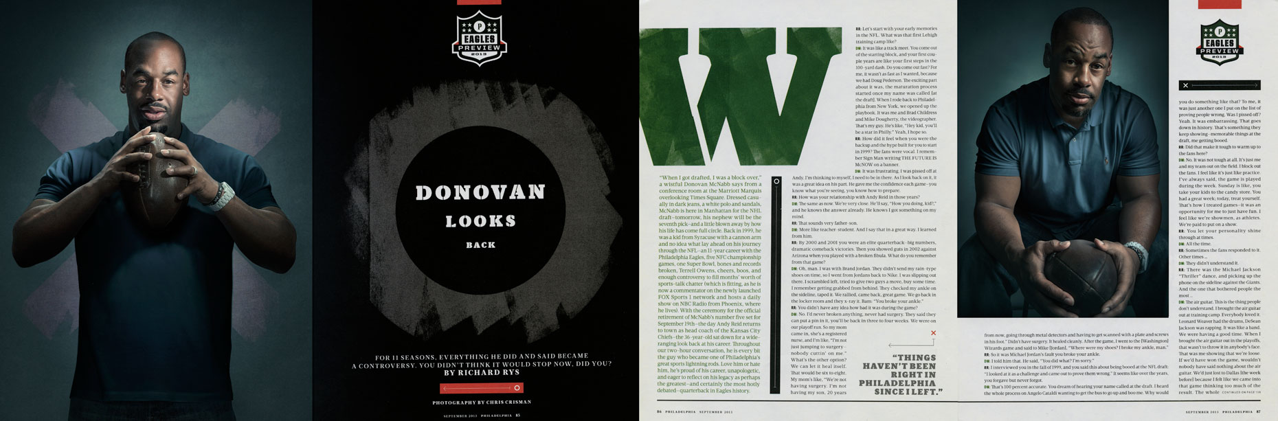 Donovan McNabb in Philadelphia Magazine Feature: Donovan Looks Back