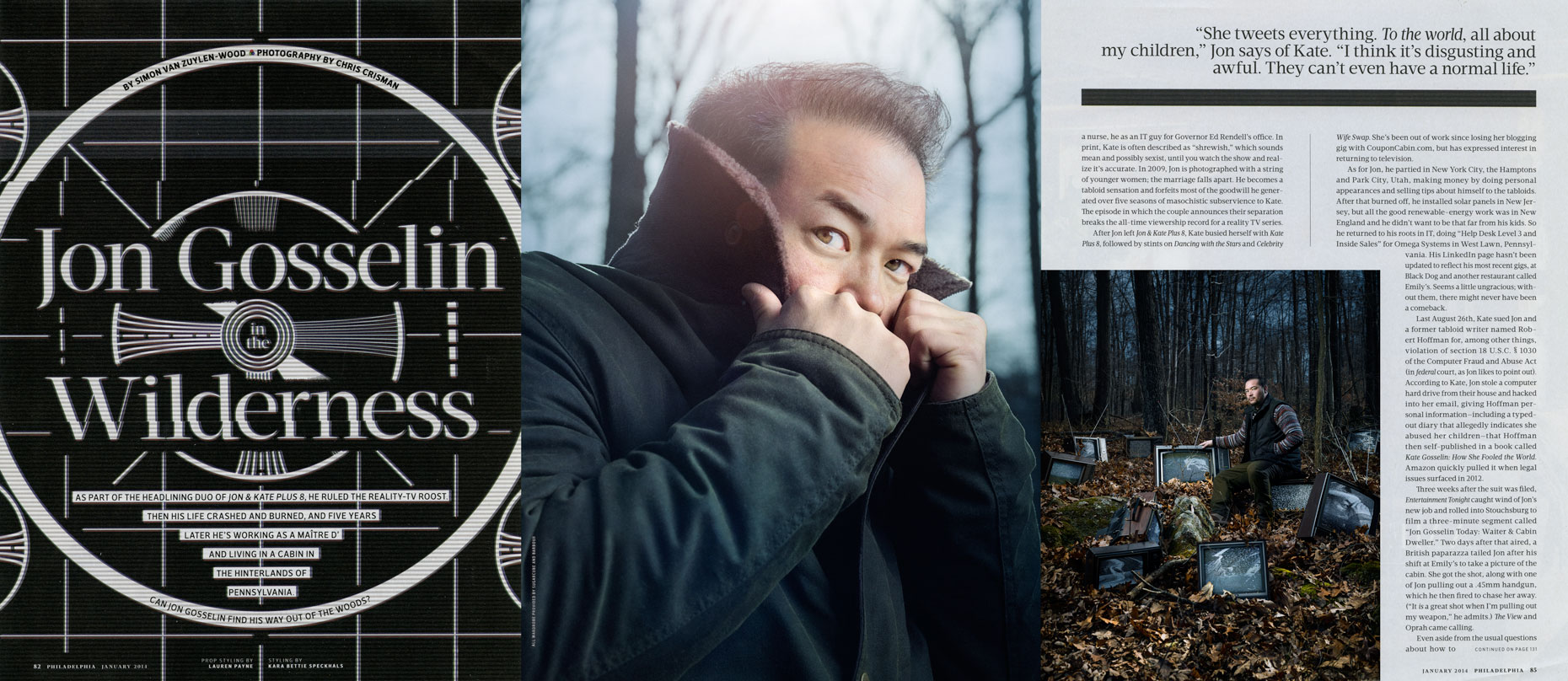 Philadelphia Magazine Feature: Jon Gosselin In the Wilderness