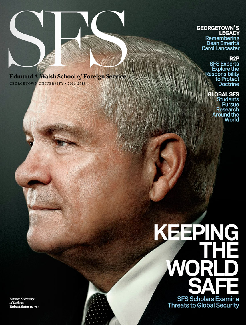 SFS Magazine - 2014-2015 - Cover - Robert Gates
