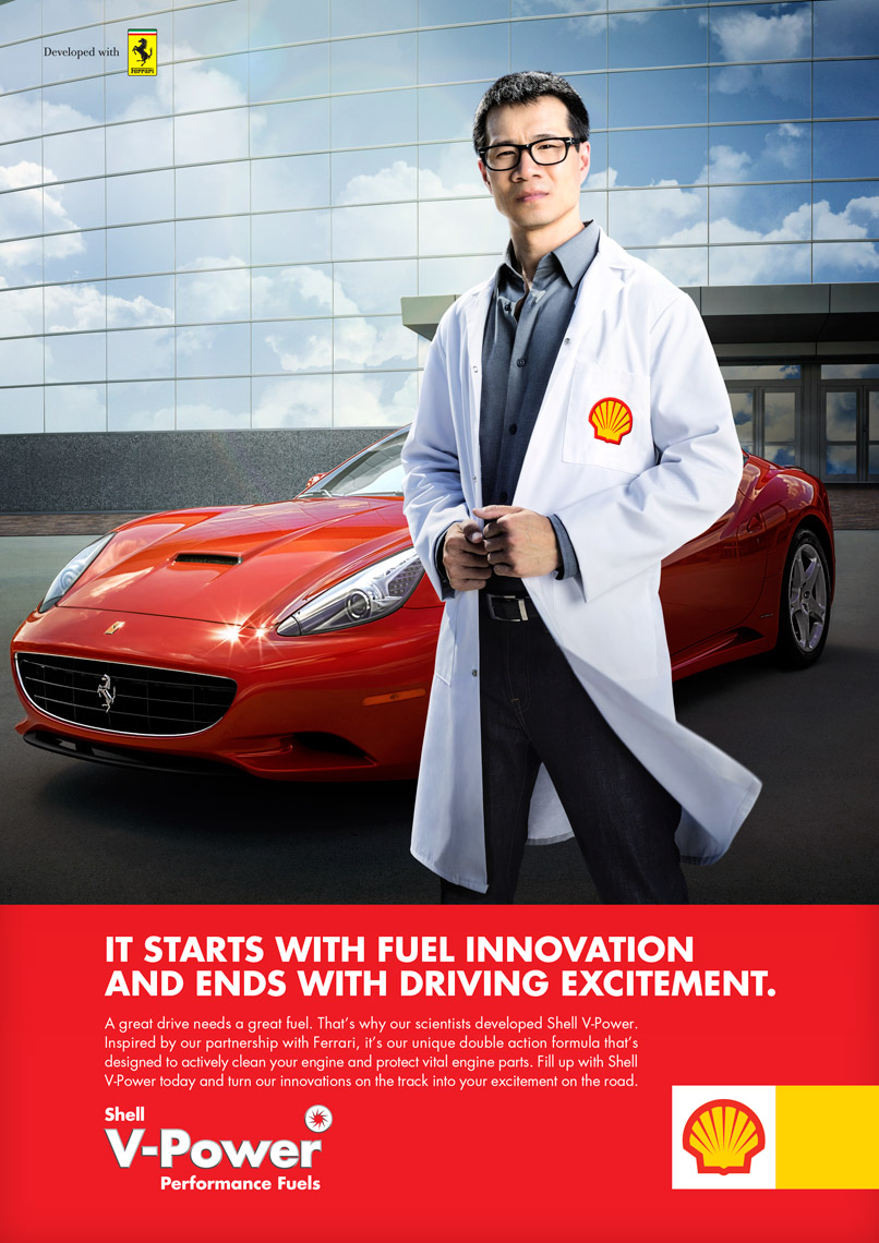 SHELL - VPower and Scientists - AD 2 - photographer Chris Crisman