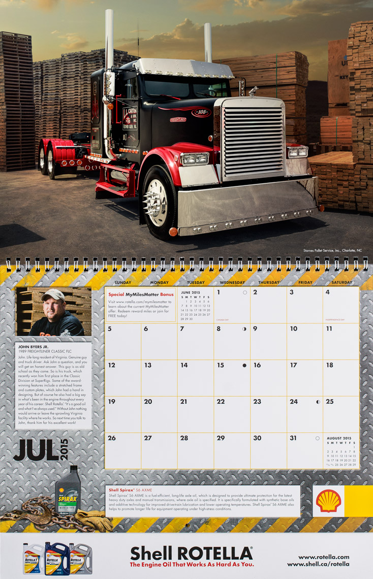 2015 Shell Rotella SuperRigs Calendar - July - Photographer Chris Crisman