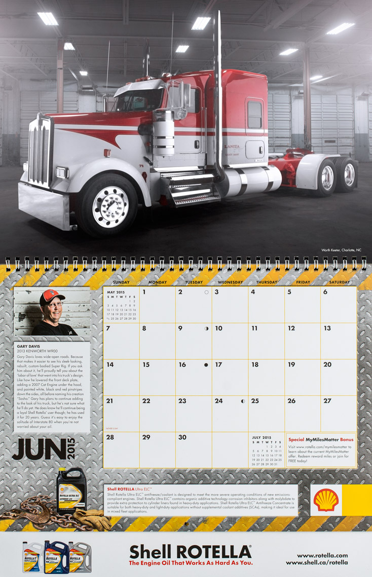 2015 Shell Rotella SuperRigs Calendar - June - Photographer Chris Crisman