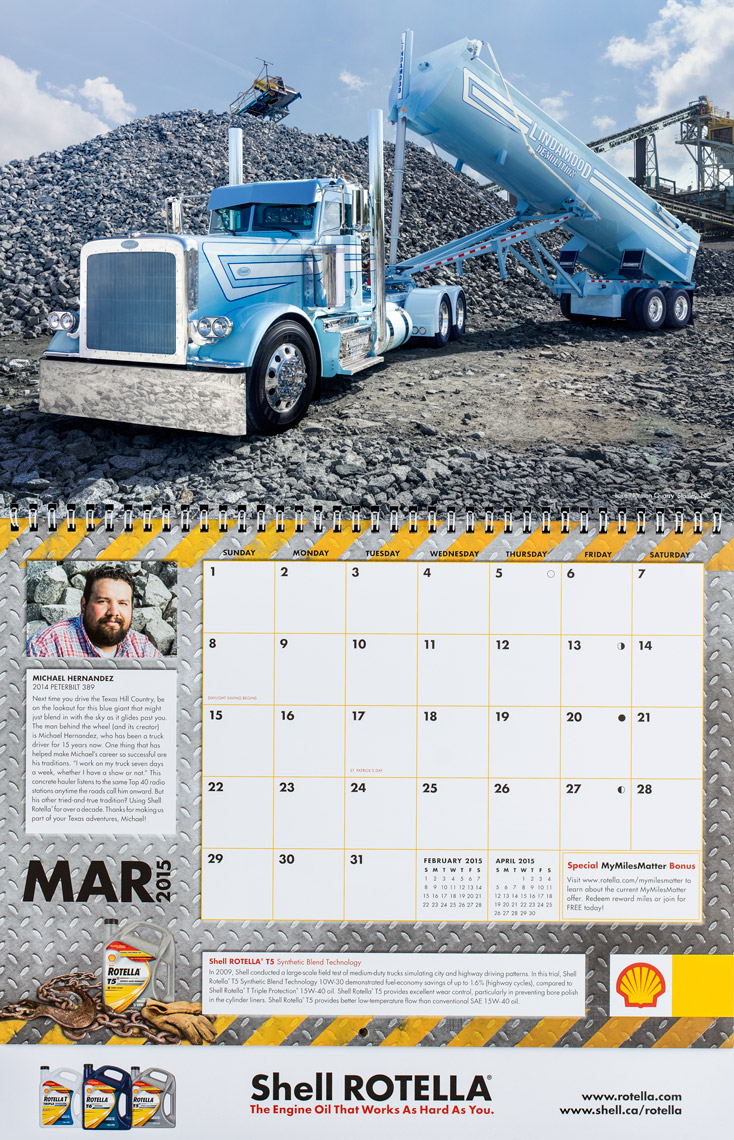 2015 Shell Rotella SuperRigs Calendar - March - Photographer Chris Crisman