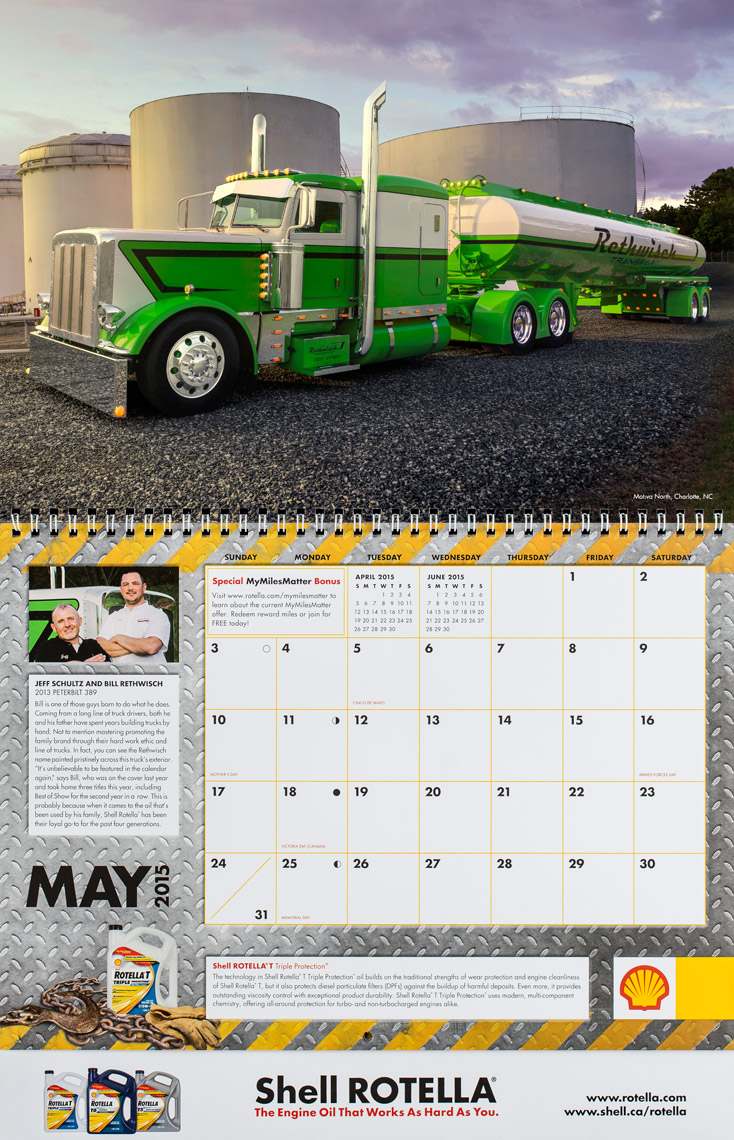 2015 Shell Rotella SuperRigs Calendar - May - Photographer Chris Crisman