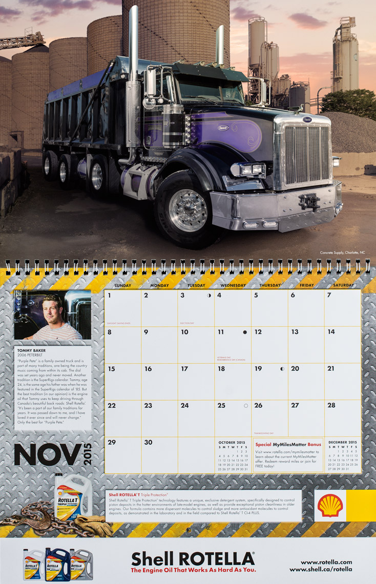 2015 Shell Rotella SuperRigs Calendar - November - Photographer Chris Crisman