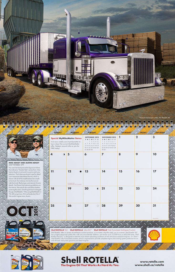 2015 Shell Rotella SuperRigs Calendar - October - Photographer Chris Crisman