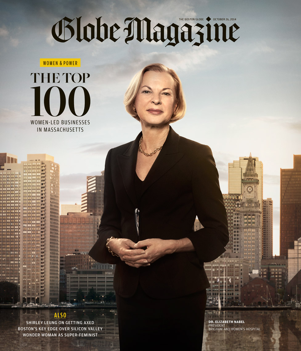 The Boston Globe: POWERFUL WOMEN - October 2014 - Cover -photographer Josh Andrus