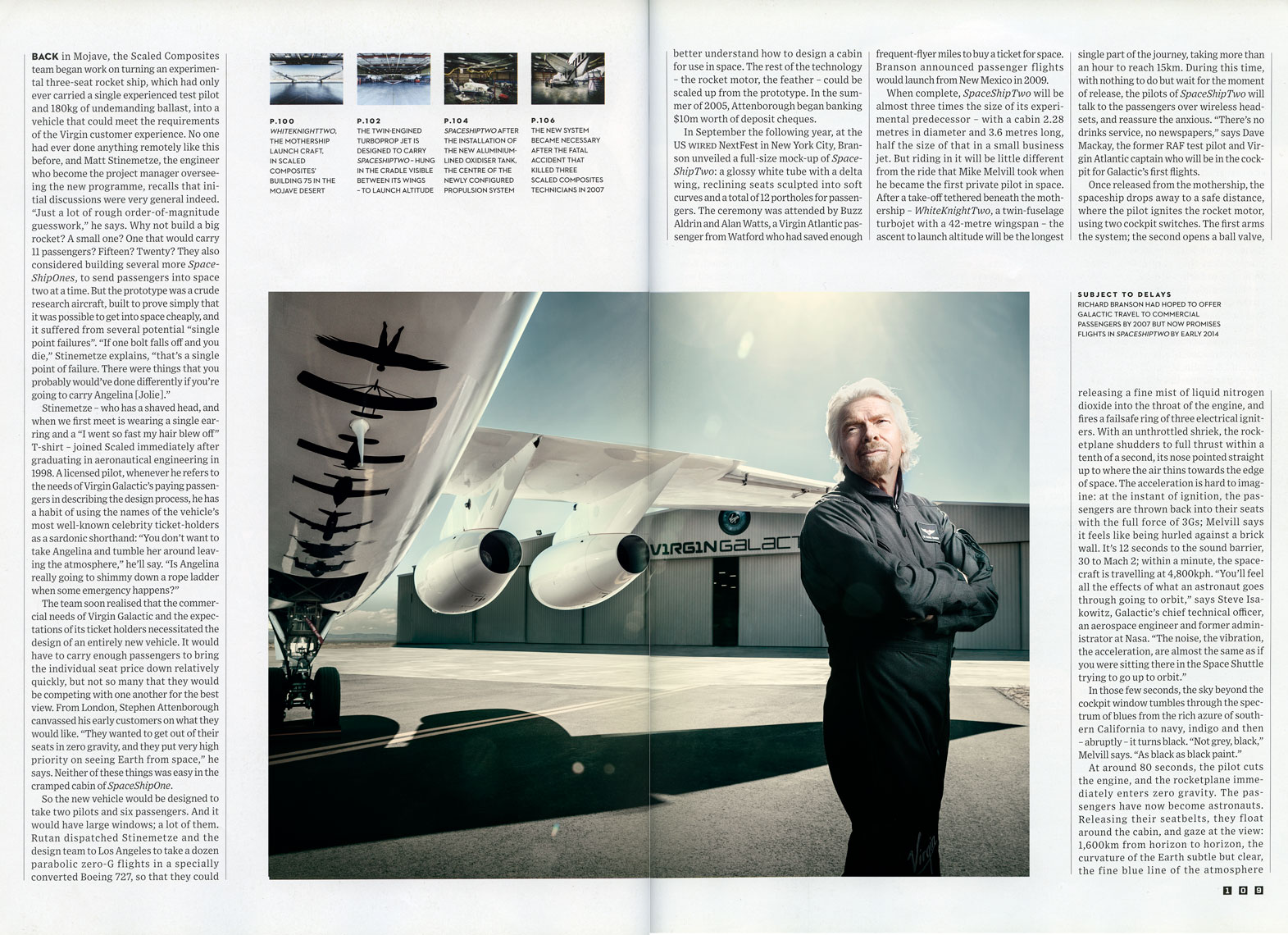 WIRED UK: BRANSON GOES GALACTIC: Richard Branson. March 2013 issue - SPREAD 9