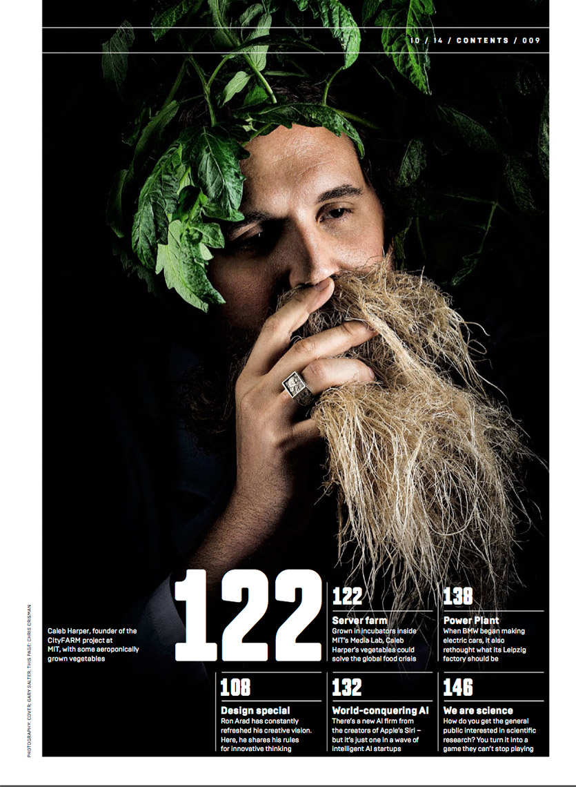 WIRED UK - OCTOBER 2014 - CITY FARM Feature - TOC- photographer Chris Crisman