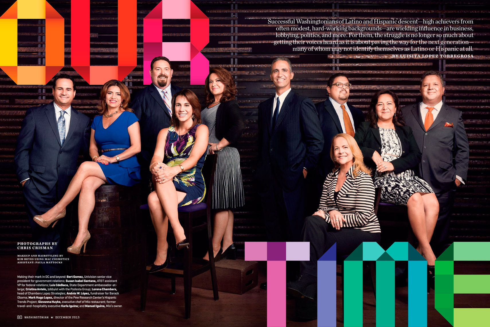 Washingtonian Magazine - December 2013 - OUR TIME Feature - Spread 1 - photographer Chris Crisman