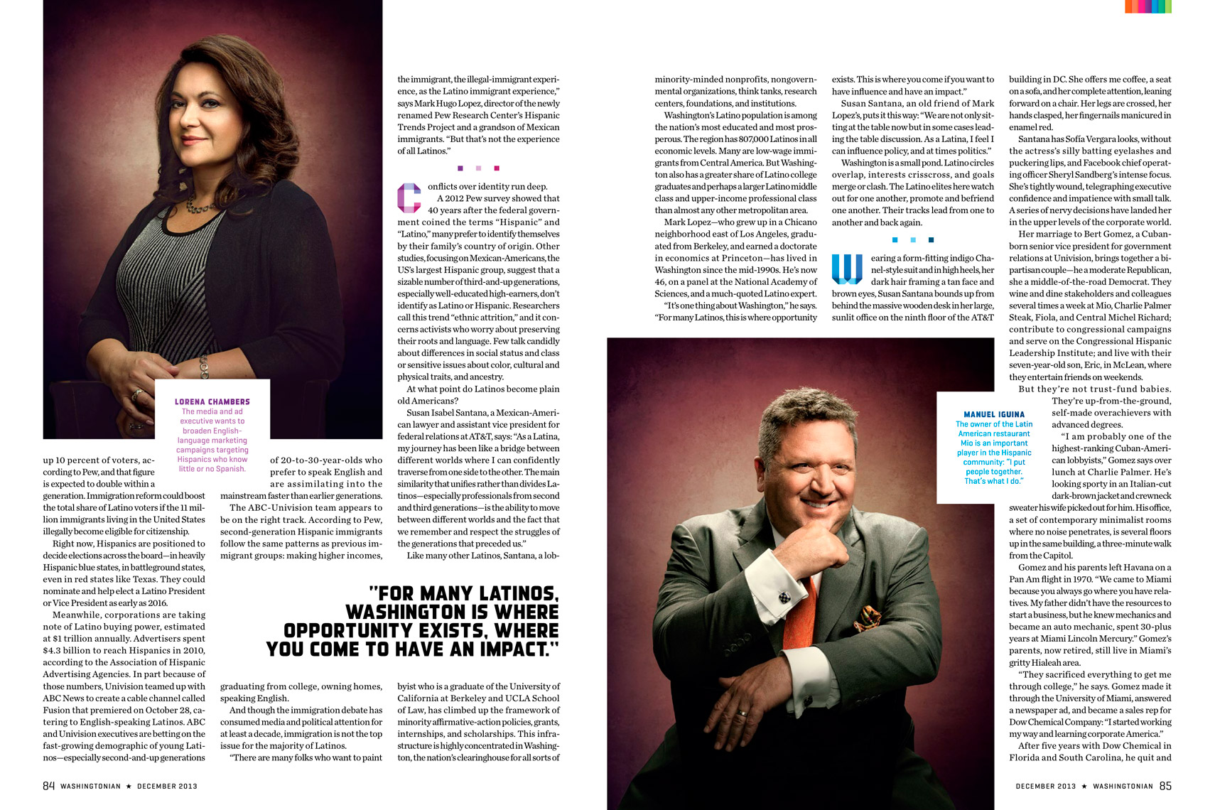 Washingtonian Magazine - December 2013 - OUR TIME Feature - Spread 3 - photographer Chris Crisman