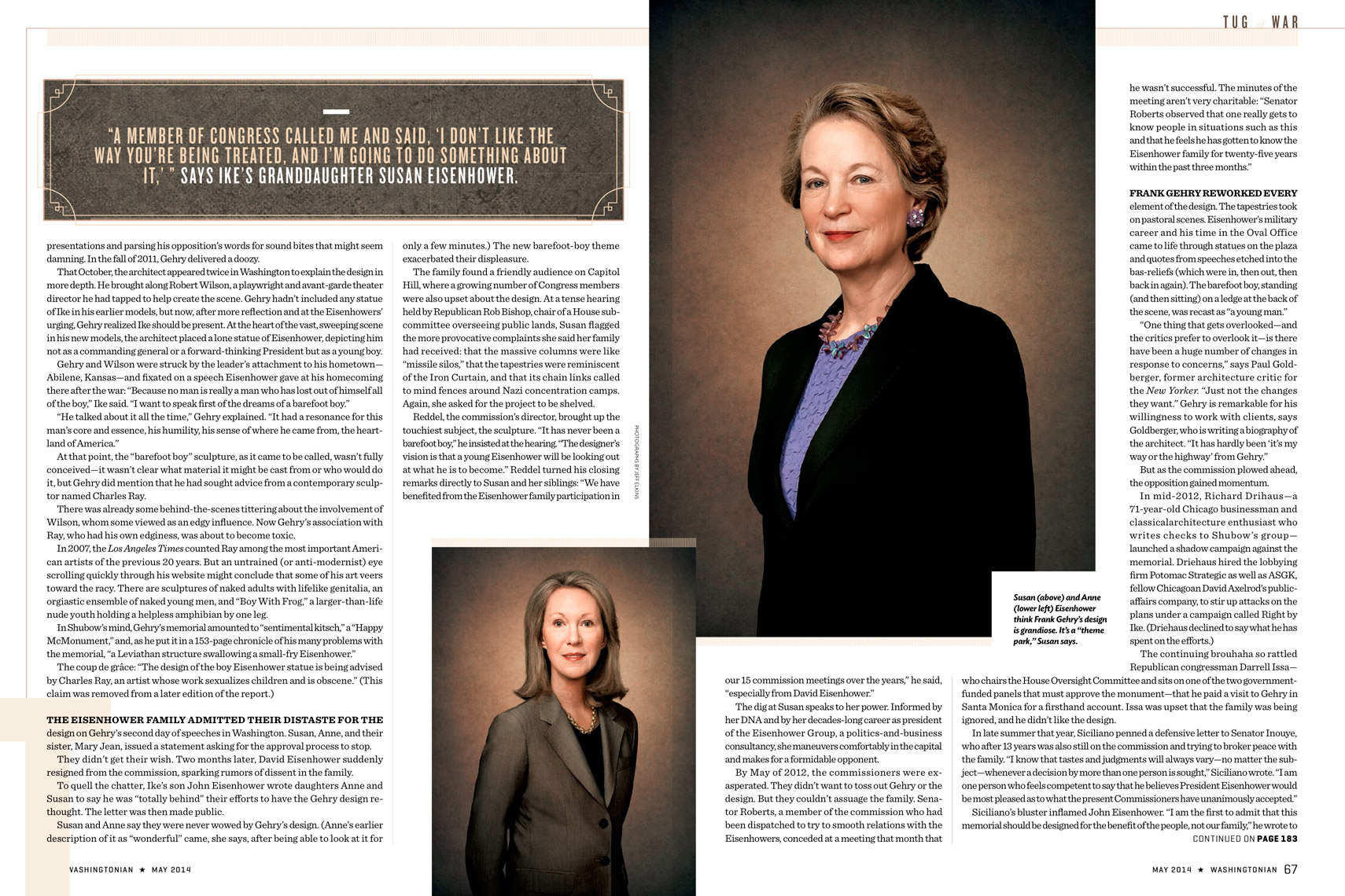 Washingtonian Magazine - May2014 - Anne and Susan Eisenhower