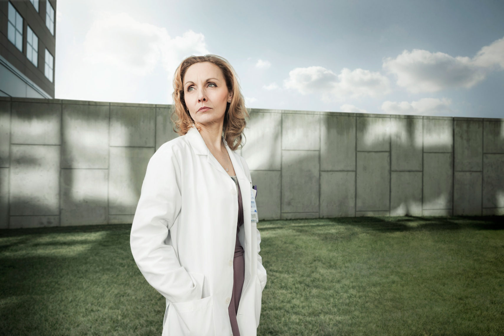 HOSPITAL: Doctor Portrait Outdoor: CORBIS