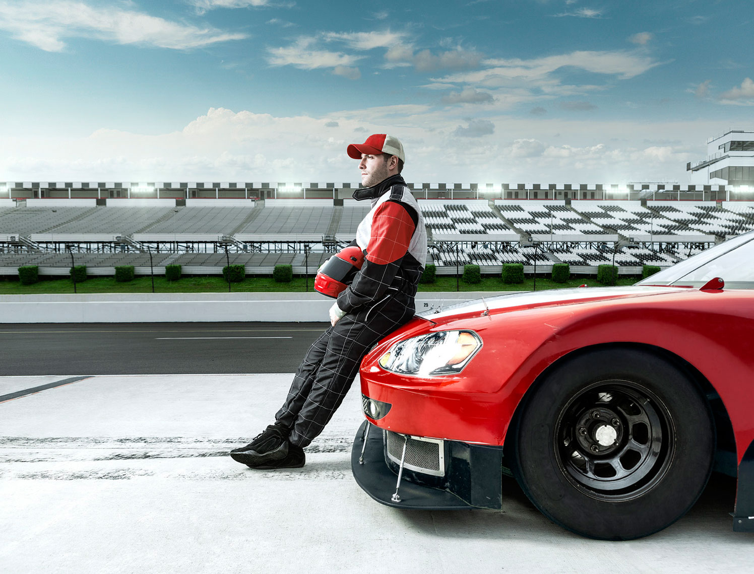 NASCAR Driver and Car Scene: CORBIS