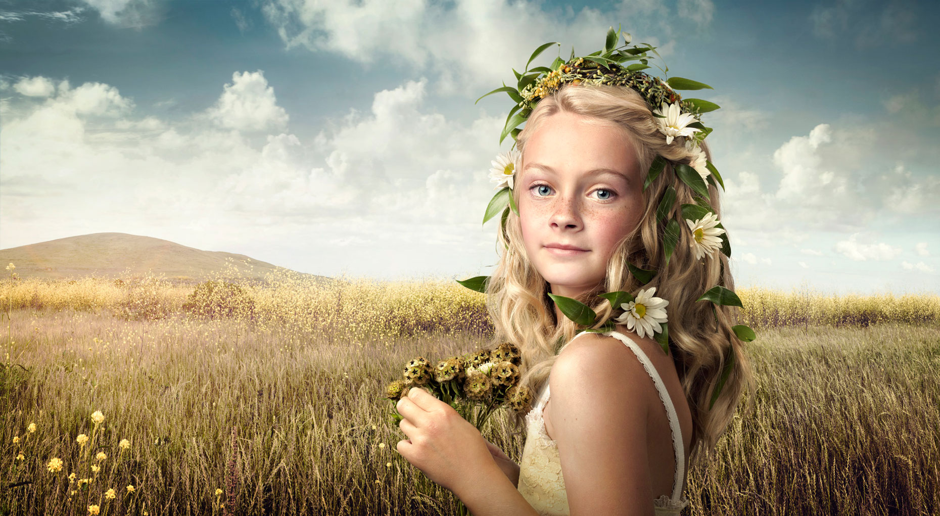 The Flower Girl - Composite Image