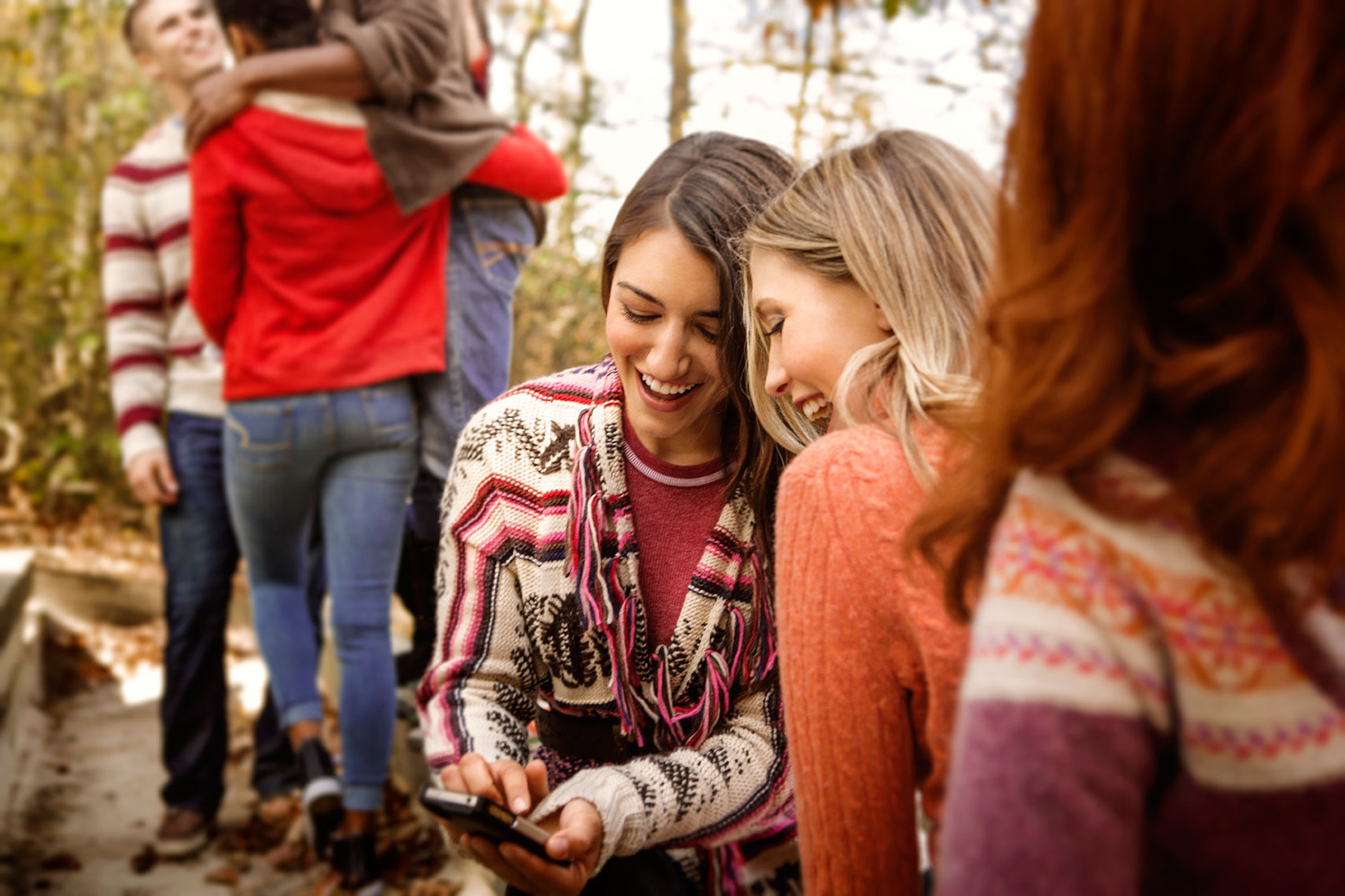 Fall Lifestyle: Young Women Laughing Portrait: CORBIS