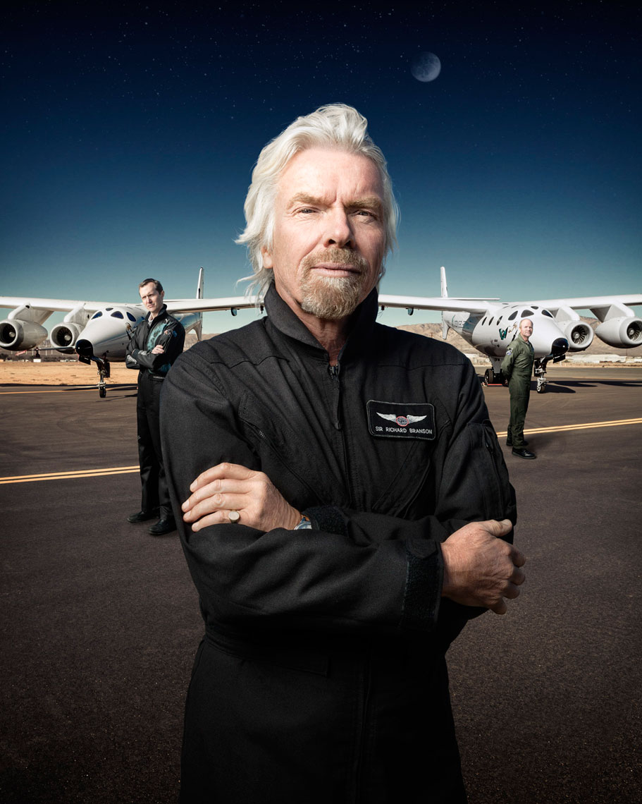 WIRED UK: BRANSON GOES GALACTIC. March 2013 issue - photographer Chris Crisman