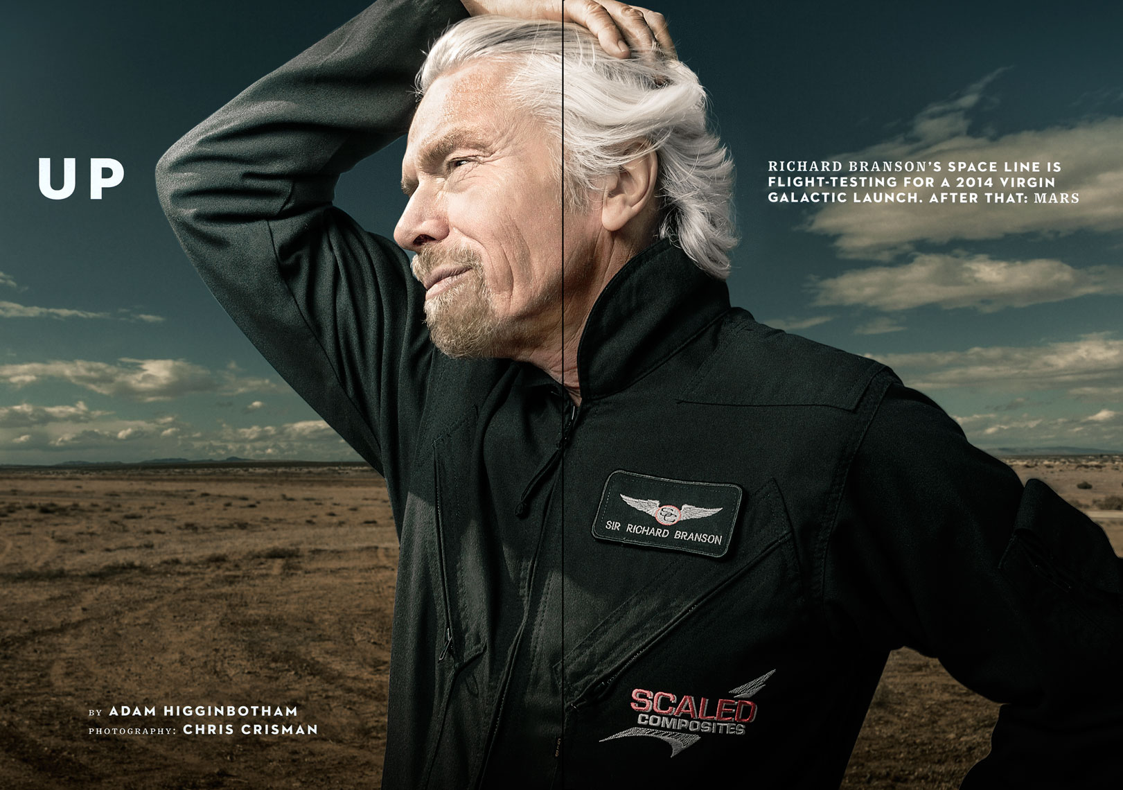 WIRED UK: BRANSON GOES GALACTIC: UP. March 2013 issue - SPREAD 2