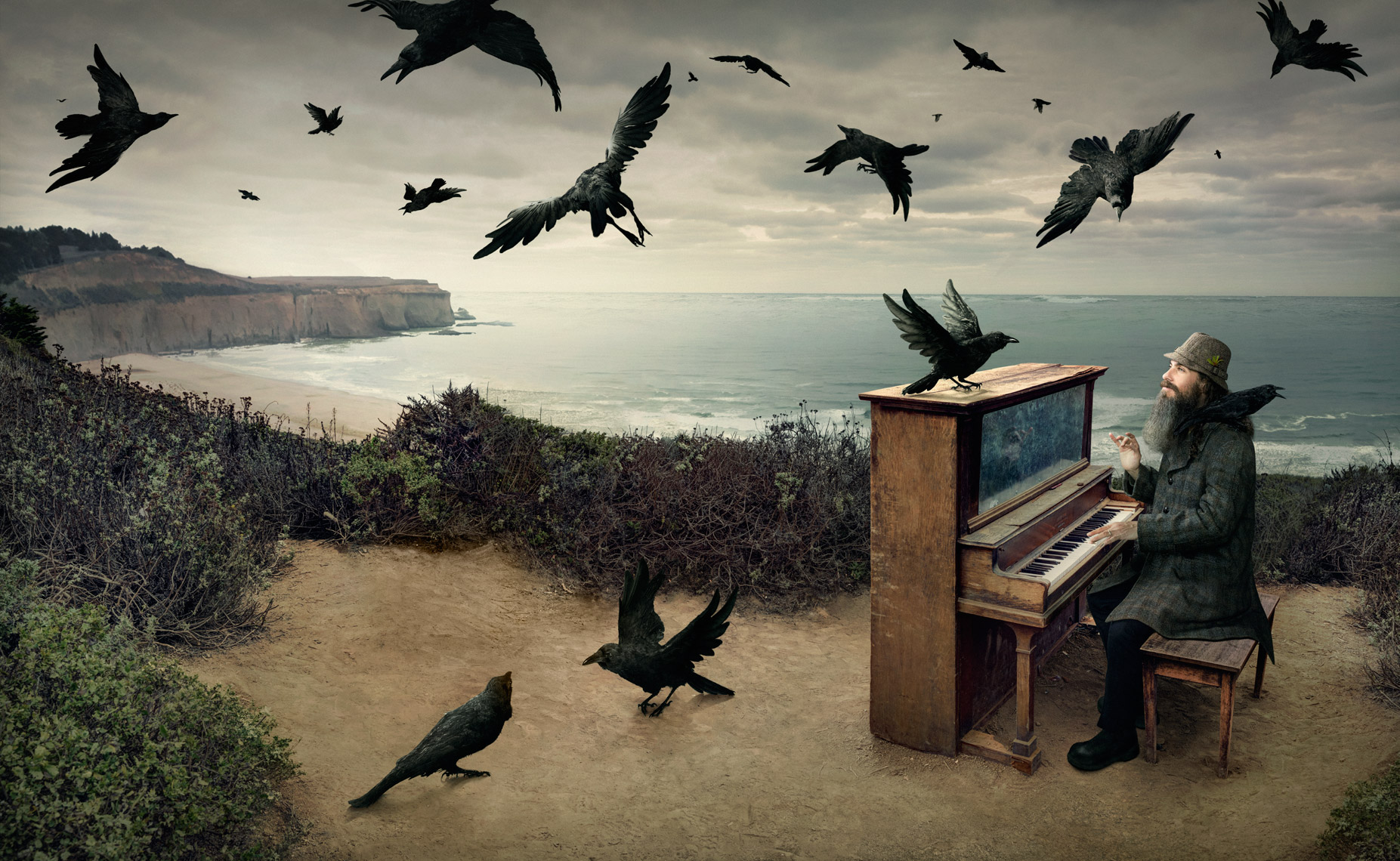 The Piano Man Composite - photographer Chris Crisman