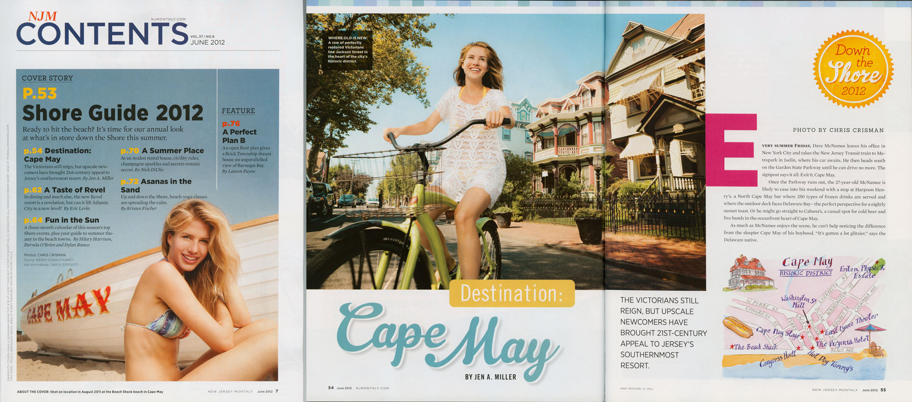 New Jersey Monthly: Shore Guide. TOC and Feature. Summer 2012